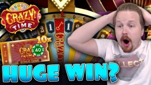 CRAZY TIME WITH 10X MULTIPLIER – large WIN