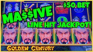 RagDragon Link Golden Century MASSIVE HANDPAY JACKPOT 50 $ XNUMX MAX BET BONUS շրջանաձև ինքնագործող ապարատ խաղատուն բոնուս 🐲