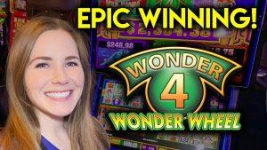 EPIC HUGE WIN! All 3 Sunsets! Wonder 4 Buffalo Au Slot Machine!
