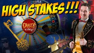 HIGH STAKES Crazy Time Session!! large WIN???