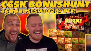 HUGE €65.000 BONUSHUNT OPENING! 46 BONUSES on HIGH STAKE (€20+)! large WIN on Online Slots!