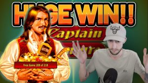 HUGE WIN! CAPTAIN VENTURE large WIN – casino bonus games from Casinodaddys live flow