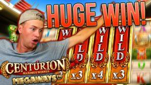 HUGE WIN on Centurion Megaways (novel Slot)