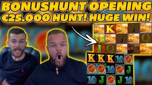 HUGE WIN on INSANE €25.000 BONUSHUNT OPENING! large WINS on Online Slots!