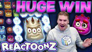 HUGE WIN on Reactoonz Slot – £10 Bet!