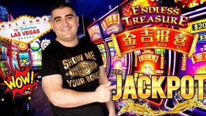 High bound ENDLESS TREASURE Slot Machine HANDPAY JACKPOT | Live Slot Play At casino bonus & large MONEY WIN