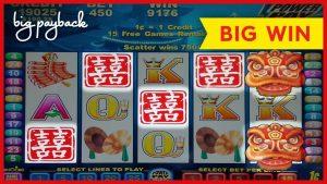 INCREDIBLE RETRIGGER! Double Happiness Slot – large WIN BONUS!