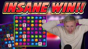 INSANE WIN!! JAMMIN JARS large WIN – casino bonus game from Casinodaddys live flow