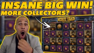 INSANE large WIN on MONEYTRAIN! COLLECTORS COLLECT EVERYTHING! large WIN on Online Slots!