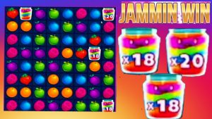 JAMMIN JARS SLOT MY BIGGEST WIN EVER ON THIS GAME OMG 😮 WHAT A BONUS MUST consider CRAZY MULTIPLIERS!!!!🍓