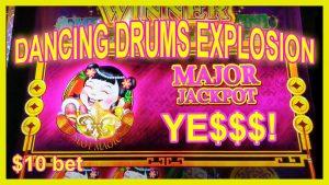 🔥MAJOR JACKPOT! High bound Dancing Drums Explosion Huge Win Las Vegas!🥁