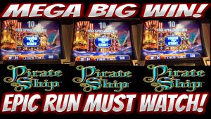 MEGA large WIN!!! nine BONUSES!!! EPIC RUN ON PIRATE SHIP SLOT MACHINE!!!