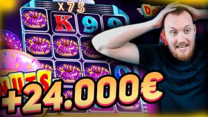 Mega Huge Win x2300 on Donuts Slot! have got TO ticker IT! Online casino bonus large win inwards slots