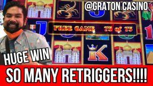 OMG HUGE WIN💰75 unloosen SPINS LIGHTNING LINK @ Graton casino bonus | NorCal Slot Guy