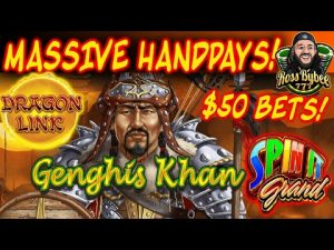 OVER 30k JACKPOTS!! MAX BET MADNESS Dragon Link Spin It Grand 5 FIGURE HANDPAY!!