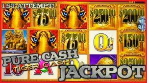 Pure Cash Tiger Cash HANDPAY JACKPOT⭐️HIGHbound MAX BET Bonus圆形老虎机赌场奖金