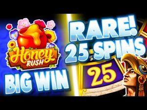 *RARE* Montezuma 25 Spins & MASSIVE WIN on Honey Rush Slot