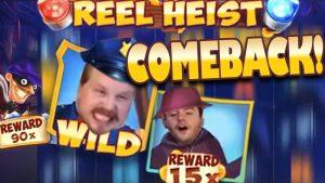 Reel Heist – large win COMEBACK!