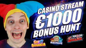 SLOTS LIVE casino bonus flow, BONUS HUNT, BONUS BUYS large WINS!