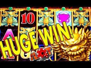 **SUPER large WIN** 5 DRAGONS HUGE MULTIPLIER WIN   SlotTraveler   SLOT MACHINE BONUS
