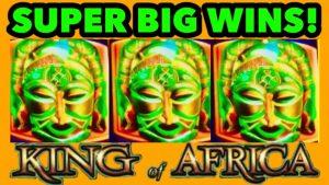 💰SUPER том хэмжээний WINS !!! AfricaRex Африкийн * WMS * слот машин бонус!