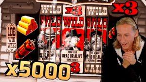 Super WIN x5000 on DEADWOOD (Nolimit metropolis) – casino bonus Slots large Wins