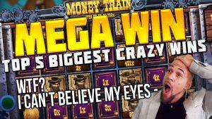 TOP 5 BIGGEST CRAZY WINS inward casino bonus   MEGA WIN inward THE MONEY develop SLOT
