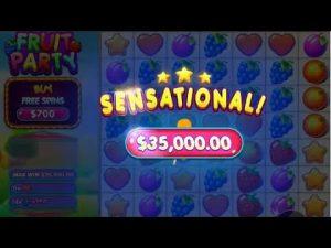 TOP 5 BIGGEST WINS OF THE calendar week ★ $35,000 SENSATIONAL JACKPOT ON FRUIT political party SLOT
