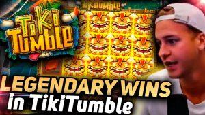 TOP 5 Biggest wins Tiki Tumble Slot  Online casino bonus Streamers