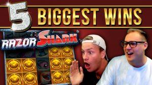 Top 5 BIGGEST WINS on Razor Shark (1000x+ only)