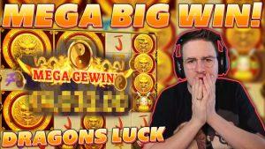 ULTRA stór vinningur á drekum LUCK MEGAWAYS - 4 € STAKE - Crazy Online-casino bónus Win -