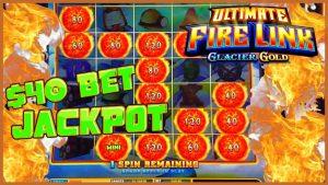 🔥Ultimate flame Link Glacier atomic number 79 HANDPAY JACKPOT  🔥HIGH boundary $40 Bonus circular Slot Machine casino bonus 🔥