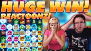 Ultragrote winst op Reactoonz - Wat deden de Pinkies op die locatie? Online casino bonus Streamers grote winst