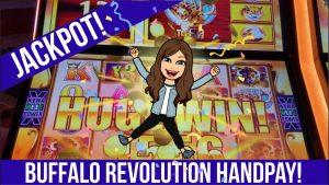 large JACKPOT ON BUFFALO REVOLUTION Slot Machine! Max Bet Played at Winstar casino bonus – HANDPAY!