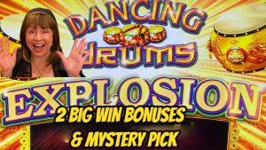 large WIN BONUSES-MYSTERY PICKS- DANCING DRUMS EXPLOSION!