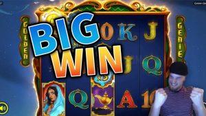 large WIN!!! Golden Genie CRAZY WIN!! casino bonus Games from MrGambleSlot Live flow