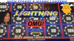 large WIN! HIGH bound Lightning Link High Stakes & depression Rolling BONUSES! HAPPY LANTERN!