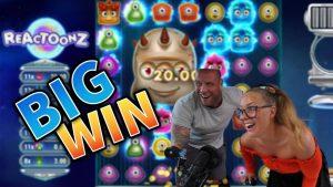 WIN גדול !!! Reactoonz Mega Win !! משחקי בונוס בקזינו מ- MrGambleSlot Live הנוכחי