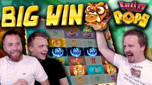 large WIN on Wild Pops! (novel SLOT)
