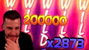 WIN x2873 גדול ב- BERRYBURST (Netent) - בונוס קזינו חריצים גדולים ניצחונות