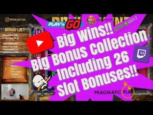 large Wins!! large Bonus Collection Including 26 Slot Bonuses!!