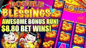 ★HUGE WIN RUN!! 😍★ $8.80 MAX BET DOUBLE BLESSINGS Slot Machine (SG Gaming)