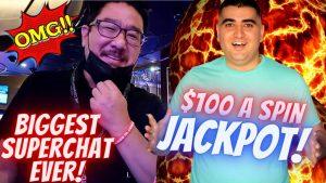100 dollarë Një Slot TOP DOLLAR Slot Machine HANDPAY JACKPOT | Lojëra elektronike Lidhëse të Larta të Lira Luaj brenda Las Vegas