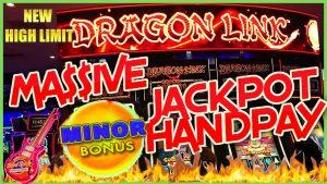$10K pocket-size LANDED on novel HIGH boundary Dragon Cash Link MASSIVE HANDPAY JACKPOT  Slot Machine casino bonus