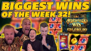 BIGGEST WINS OF THE calendar week 32! INSANE large WINS on Online Slots! TWITCH HIGHLIGHTS!
