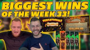 BIGGEST WINS OF THE calendar week 33! INSANE large WINS on Online Slots! TWITCH HIGHLIGHTS!