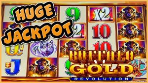 Buffalo atomic number 79 Revolution MASSIVE HANDPAY JACKPOT ⭐️HIGH bound $22.50 BONUS circular Slot Machine casino bonus