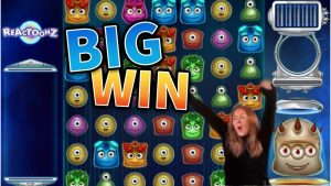 CRAZY WIN!!! large win from Reactoonz – casino bonus Games from MrGambleSlots Live flow