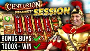 Centurion Megaways Slot Session with HUGE WIN!