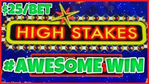 HIGHバウンドライトニングリンクハイステークスAWESOME WIN⚡️$ 25ボーナス円形スロットマシンカジノボーナス